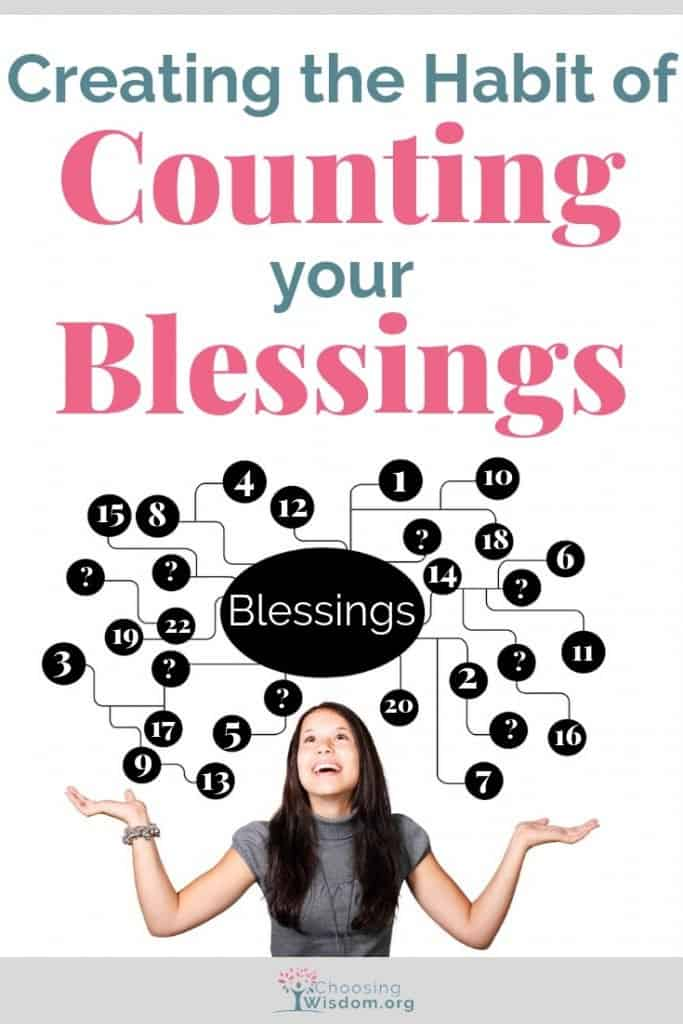 girl counting her blessings