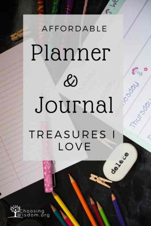planner and journal treasures