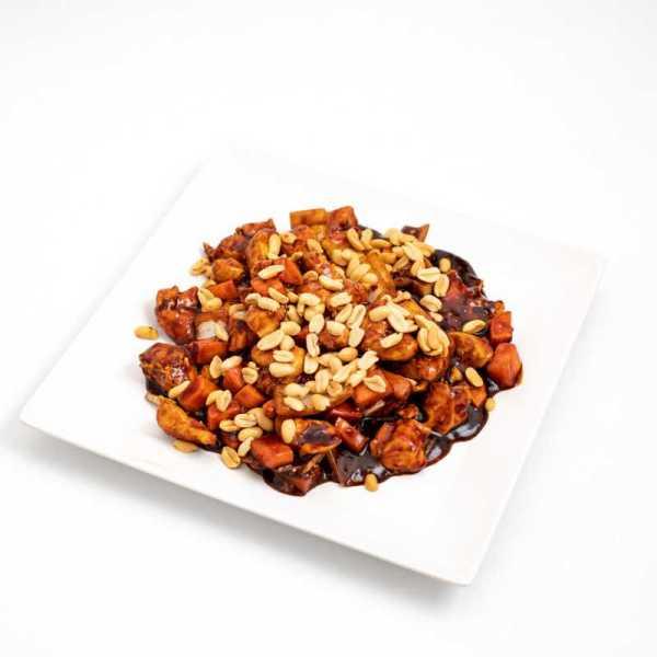 Kung Pao csípős szójás-mogyorós csirke