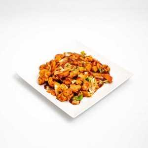 Szecsuáni édes savanyú csipős csirke (erős)