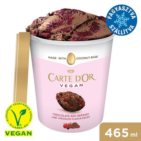 CARTE D'OR Poharas Vegan D.Choc&RedBerries jégkrém 465 ml