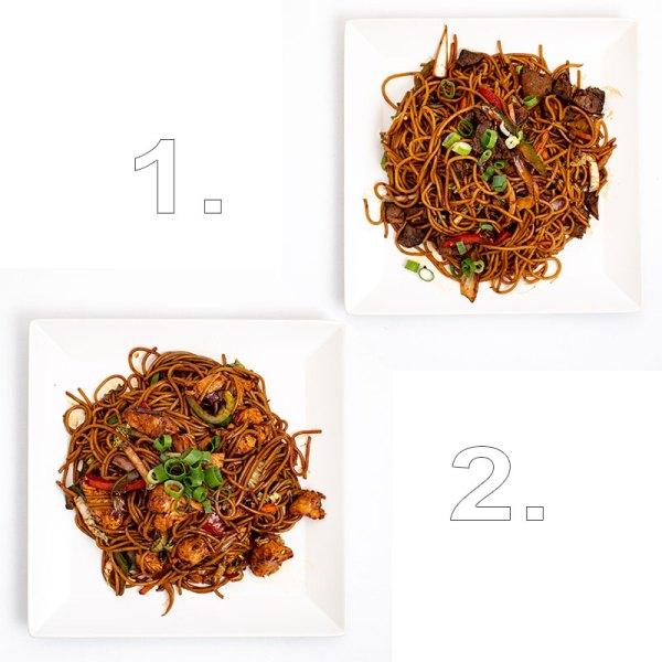Húsimádó wok extra tésztával (kacsa, marha, sertés, csirke ) - 2 személyes