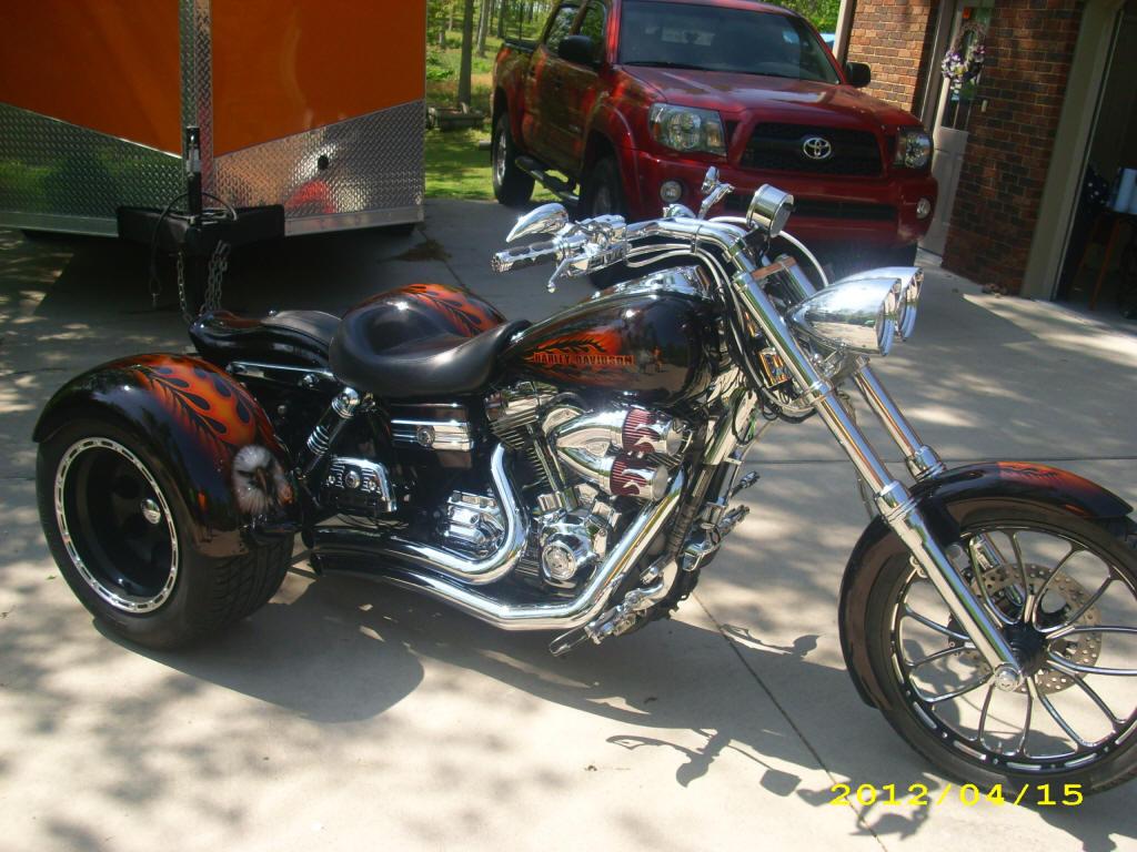 Harley Dyna Trike 18 Degree Rake Kit W 4 Os Rear End
