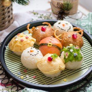 Christmas Sushi Balls (Temarizushi)
