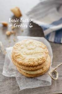 Basic Butter Cookie  基本の バタークッキー