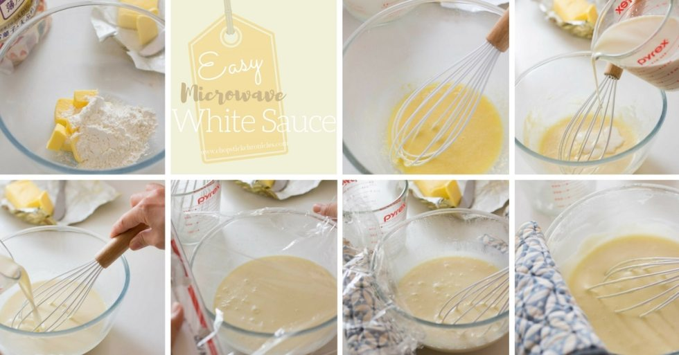 easy microwave white sauce