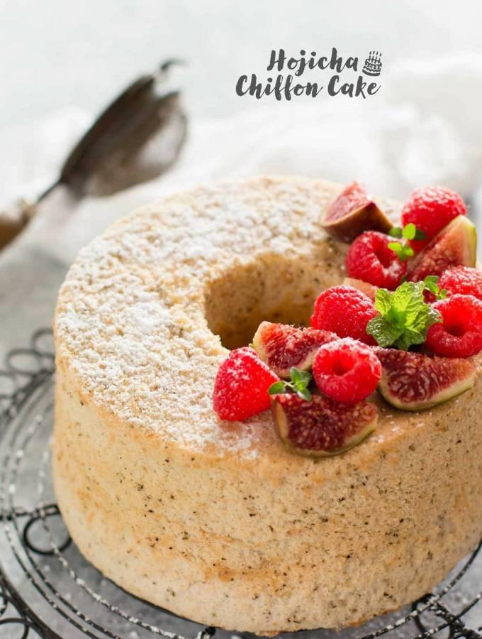 Hojicha flavoured Japanese chiffon cake