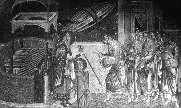 Joseph receiving the rod which marks him as the favorite suitor