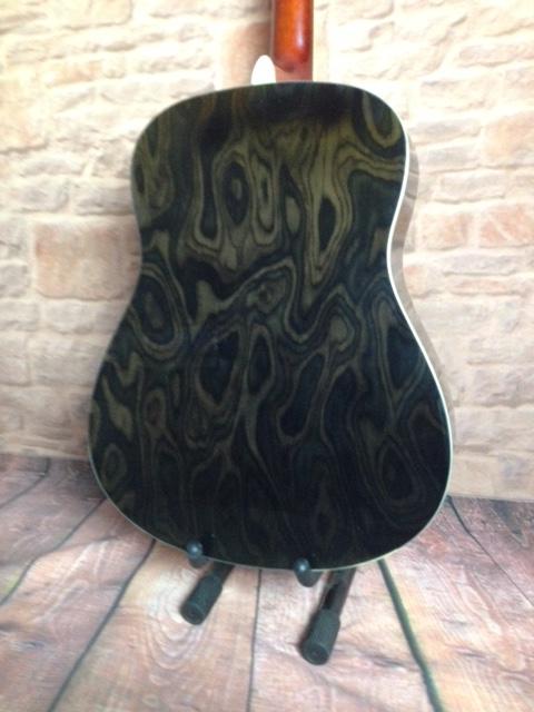 Back of Spruce Acoustic GUitar