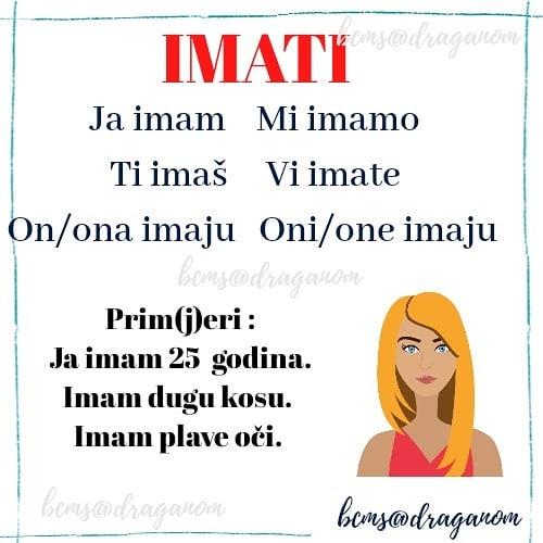 czasownik mieć w języku chorwackim