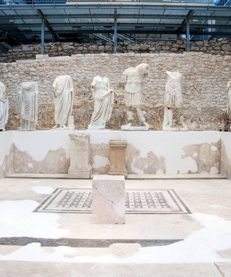 ekspozycja w muzeum Narona