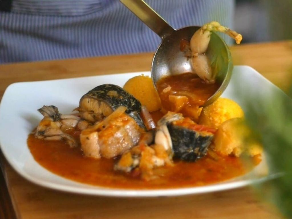 duszona ryba w restauracji Konavoski Dvori