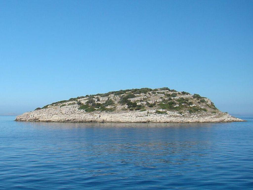 Wysepka Mali Vodnjak w archipelagu  Wyspy Paklińskie