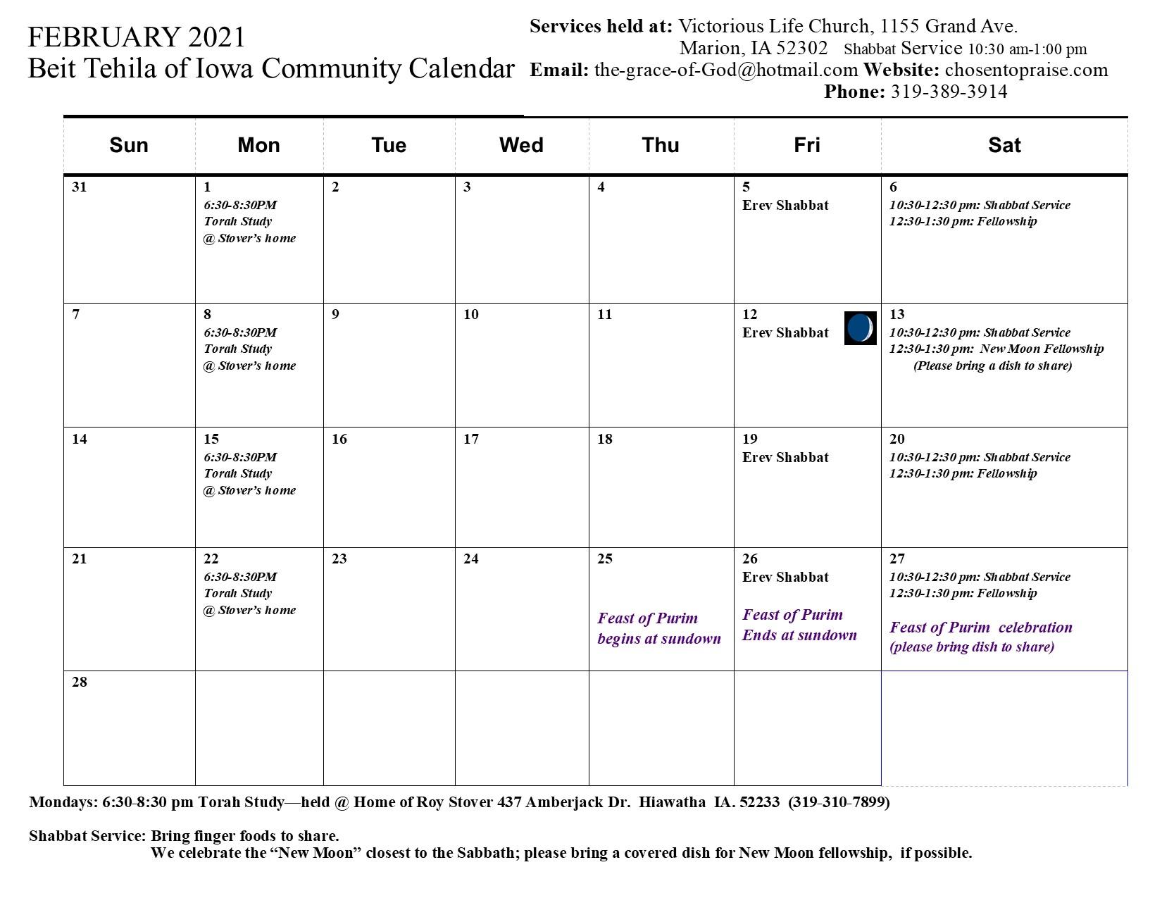 2 February 2021 Calendar