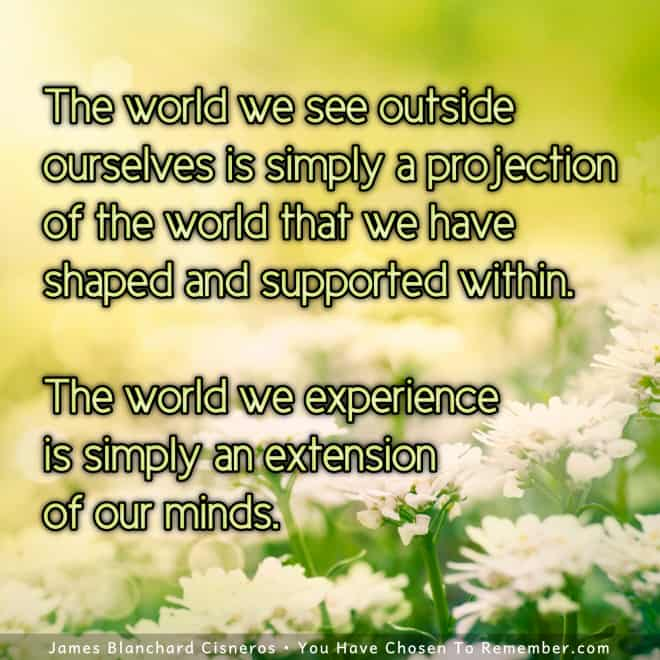 Inspirational Quote - We create our reality.