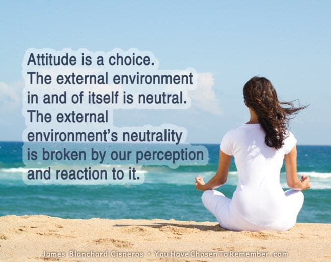 inspirational quote about attitude