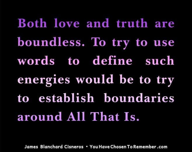 Inspirational Quote about love by James Blanchard Cisneros, author of spiritual self help books.
