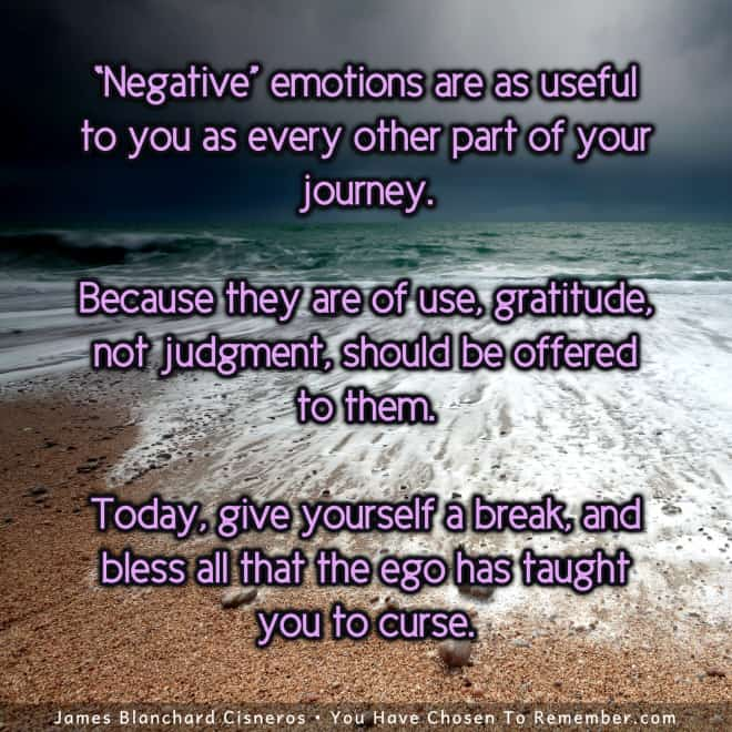 Inspirational Quote - Negative Emotions are a Useful Part of Our Journey