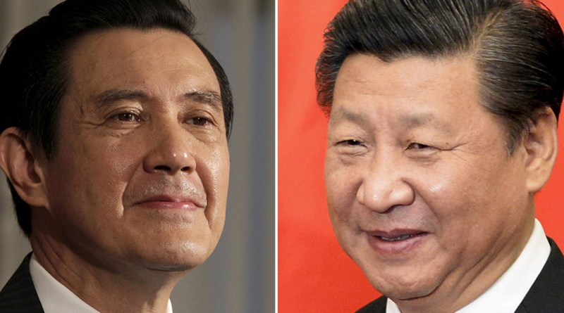 A combination photograph shows Taiwan President Ma Ying-jeou (L) listening to a question during an interview with Reuters at the Presidential Office in Taipei in this June 1, 2012 file photograph and Chinese President Xi Jinping (R) smiling before his meeting at the Diaoyutai State Guesthouse in Beijing, China October 29, 2015 file photo.  The leaders of Taiwan and China will meet in Singapore on November 7, 2015 to exchange views on cross-strait issues, Taiwan's Presidential office said, in the first such meeting of leaders from the two sides since the Chinese civil war ended in 1949.      REUTERS/Pichi Chuang /Muneyoshi Someya /Files          TPX IMAGES OF THE DAY