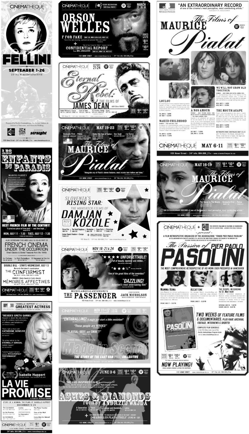 More Cinematheque Ad Slicks 2005