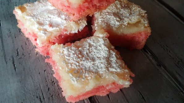 Strawberry Gooey Bars