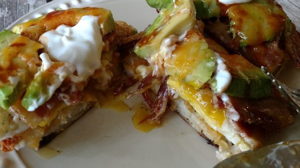 Open-Faced Avocado Bacon Egg Breakfast Sandwiches