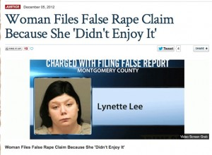 False Rape