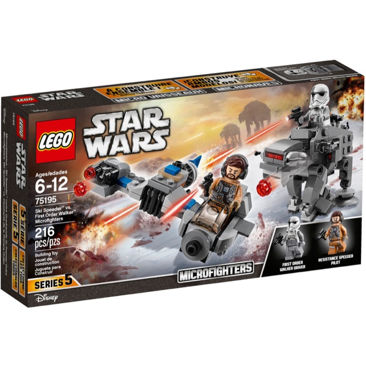 Lego Star Wars Sets 75195 Ski Speeder Vs First Order Walker Microfighters New