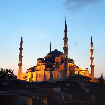 Sunset on the Blue Mosque