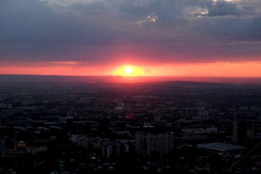 Sunset at Kok Tobe