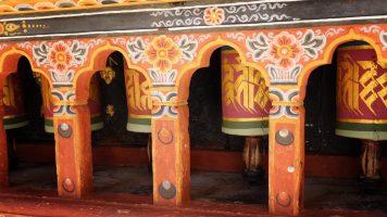 Prayer wheels, Paro Bhutan
