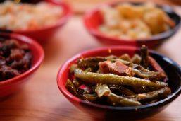 Green beans with smoked pork at Ash Kickers Bangkok