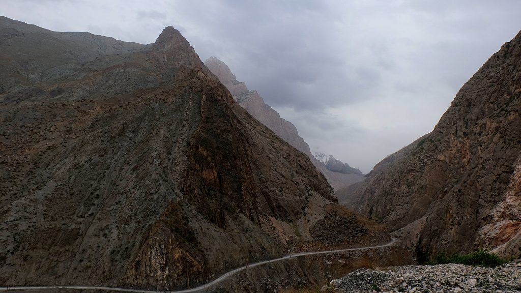 Roads outside of Dushanbe