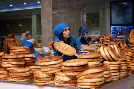 Bread Vendors at Green Bazaar Dushanbe