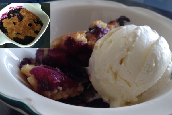 apple & bluberry crumble