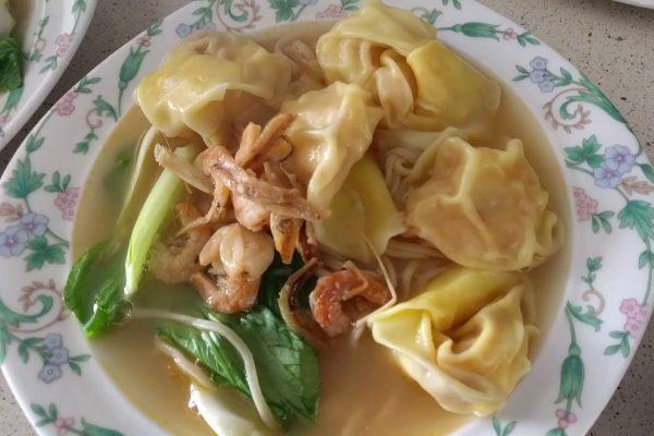 prawn wonton noodle soup