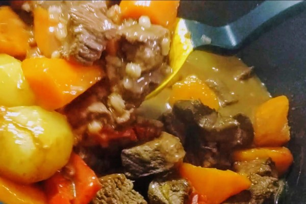 Spicy Beef Stew with Barley