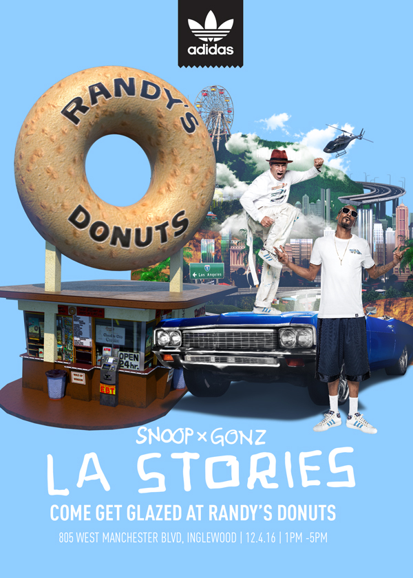 Adidas x Snoop x Gonz x Randy's Donuts Uncle Snoop