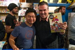 Love Is Love, Golden Apple Comics, Marc Andreyko, DC Comics, IDW Publishing, Crowd, Autograph, Bill Morrison, Chuck Kim
