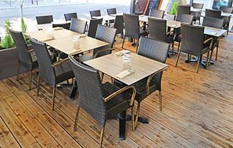table de terrasse pour restaurant et
