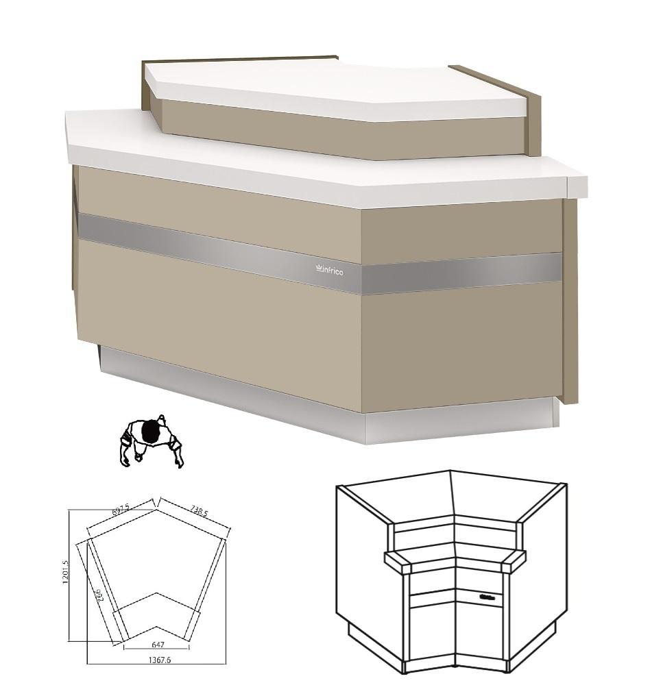 meuble caisse d angle profondeur 990mm longueur 1365mm magnus