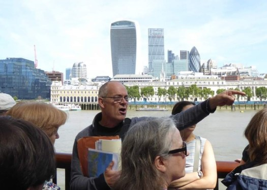 Kevin Flude leading a guided walk on the South Bank
