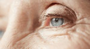 old woman's eye