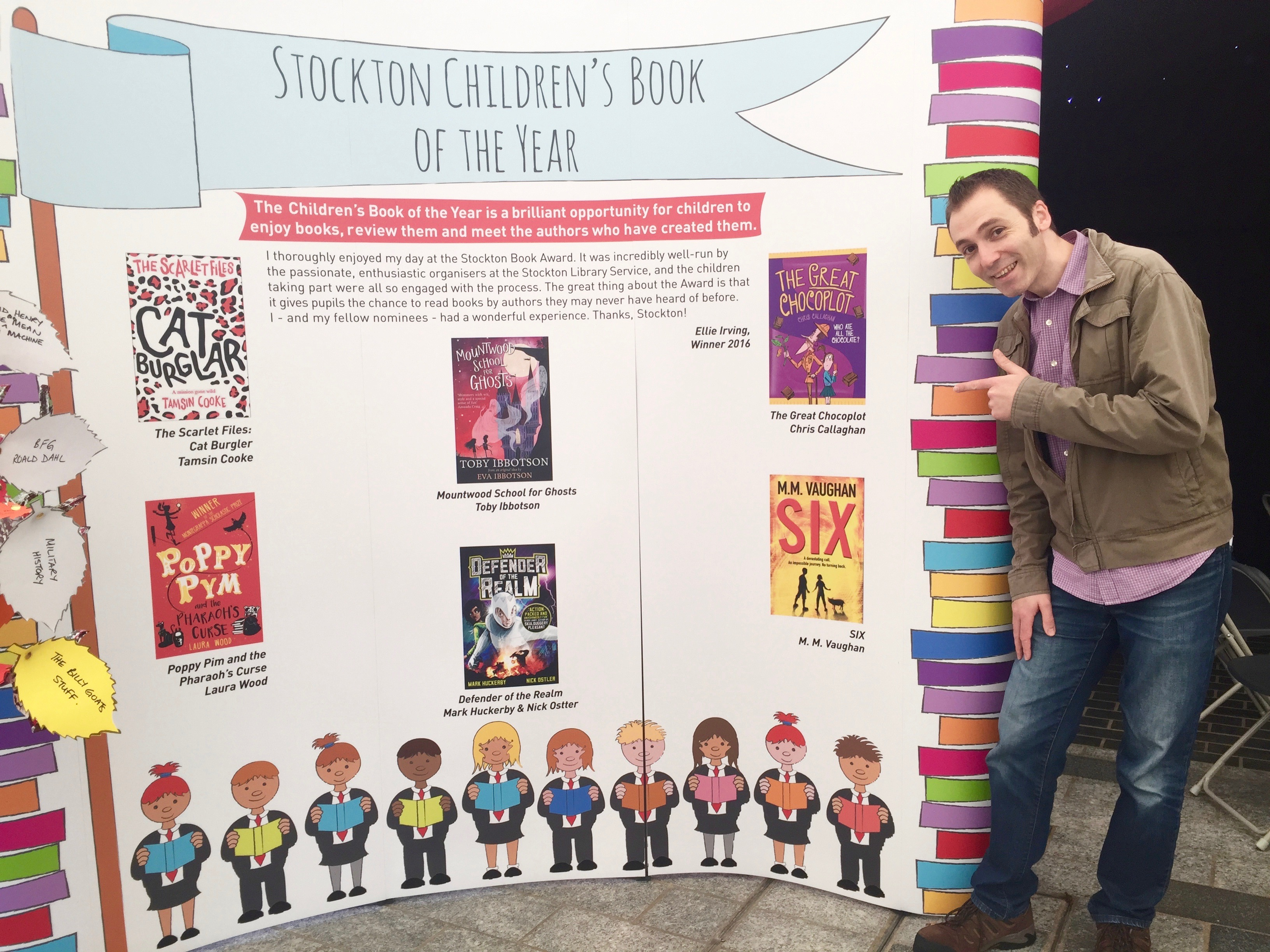 Chocoplot Shortlisted in the Stockton Children's book of the Year Awards!