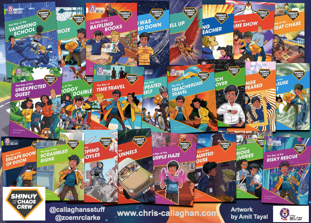 Shinoy and the Chaos Crew by Chris Callaghan a 24 book series for children