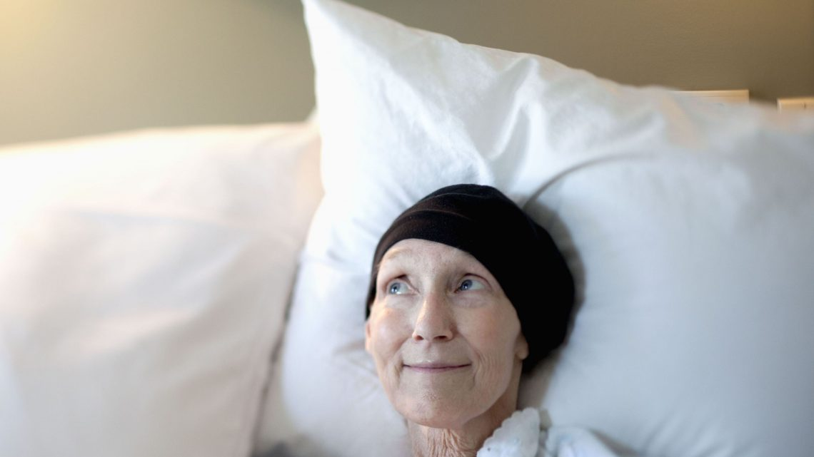 Cancer patient in hospice