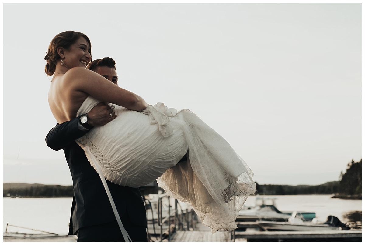 Wedding at Petpeswick Yacht Club, Martinique Beach