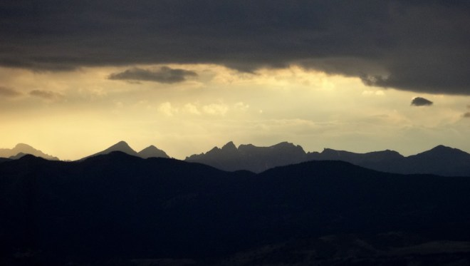 The clouds circled over the Front Range for three days - the moisture sitting heavily over the high peaks