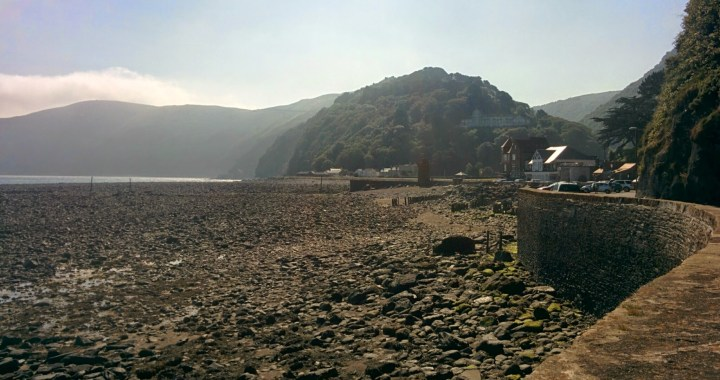 Early morning light in Lynmouth, looking east towards Foreland Point