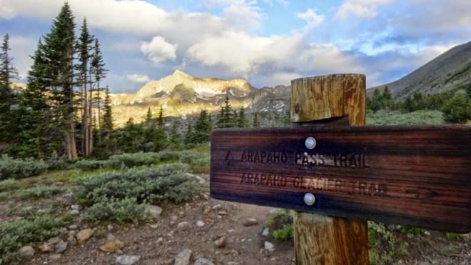 The Arapahoe Glacier trail